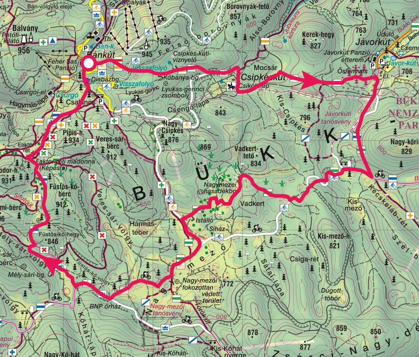 bánkút térkép Bükk fennsík, Bánkút, Jávorkút, Nagy mező » KirándulásTippek bánkút térkép