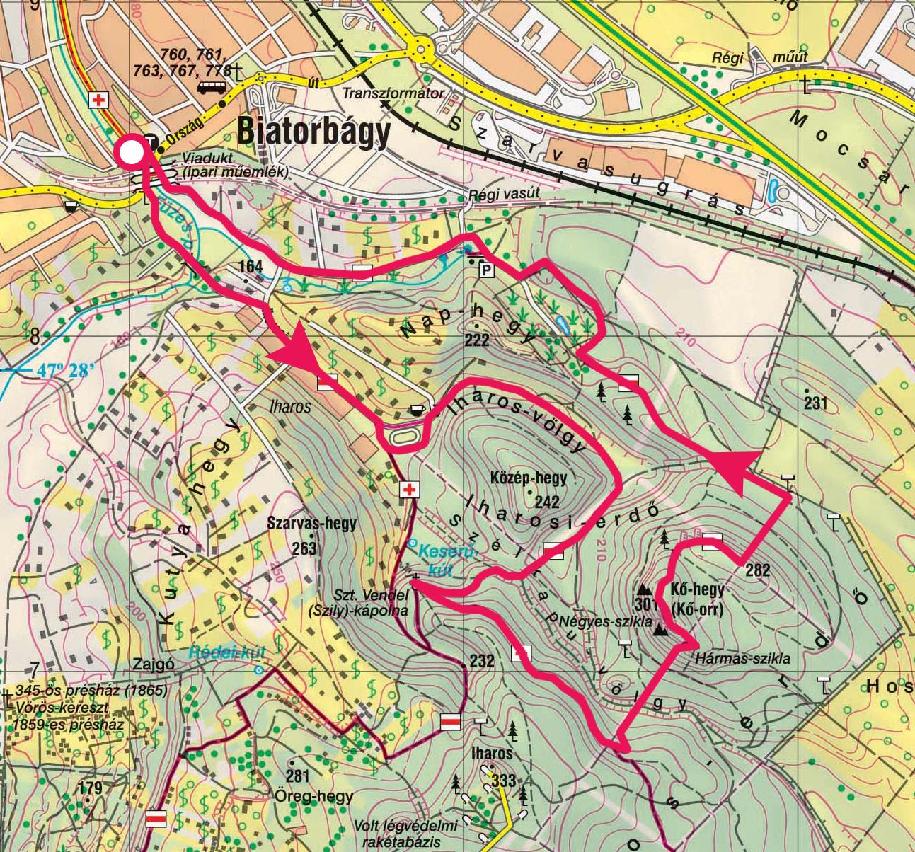 biatorbágy övezeti térkép Biatorbágyi túra, a Viadukttól a Kő hegy sziklaformációira, a
