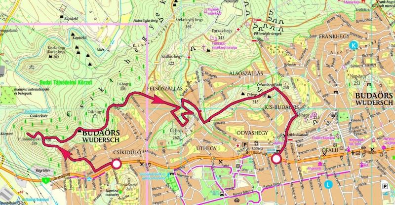 budaörs térkép Budaörs, Csíki hegyek, Odvas hegy » KirándulásTippek budaörs térkép