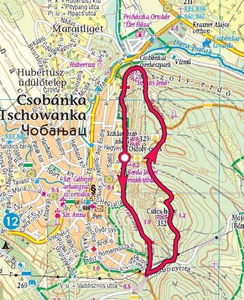 csobánka térkép Csobánkai körtúra az Oszoly csúcsra » KirándulásTippek csobánka térkép