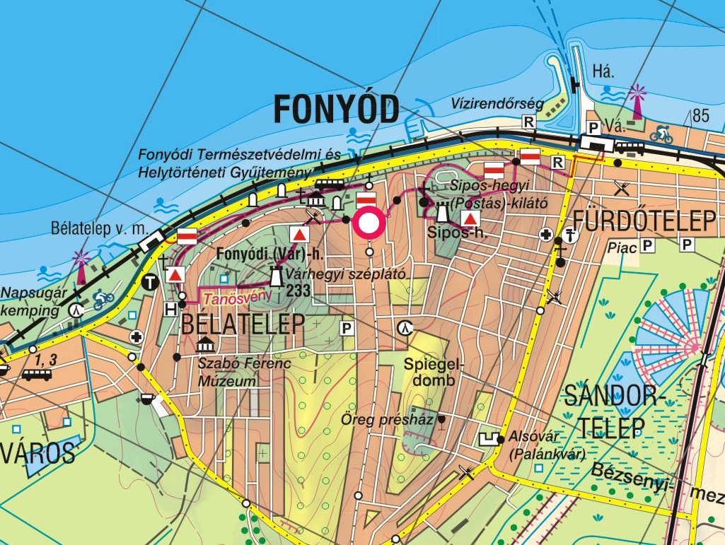 fonyód térkép Fonyód, Vár hegy, Sipos hegy, Bélatelepi panoráma sétány  fonyód térkép