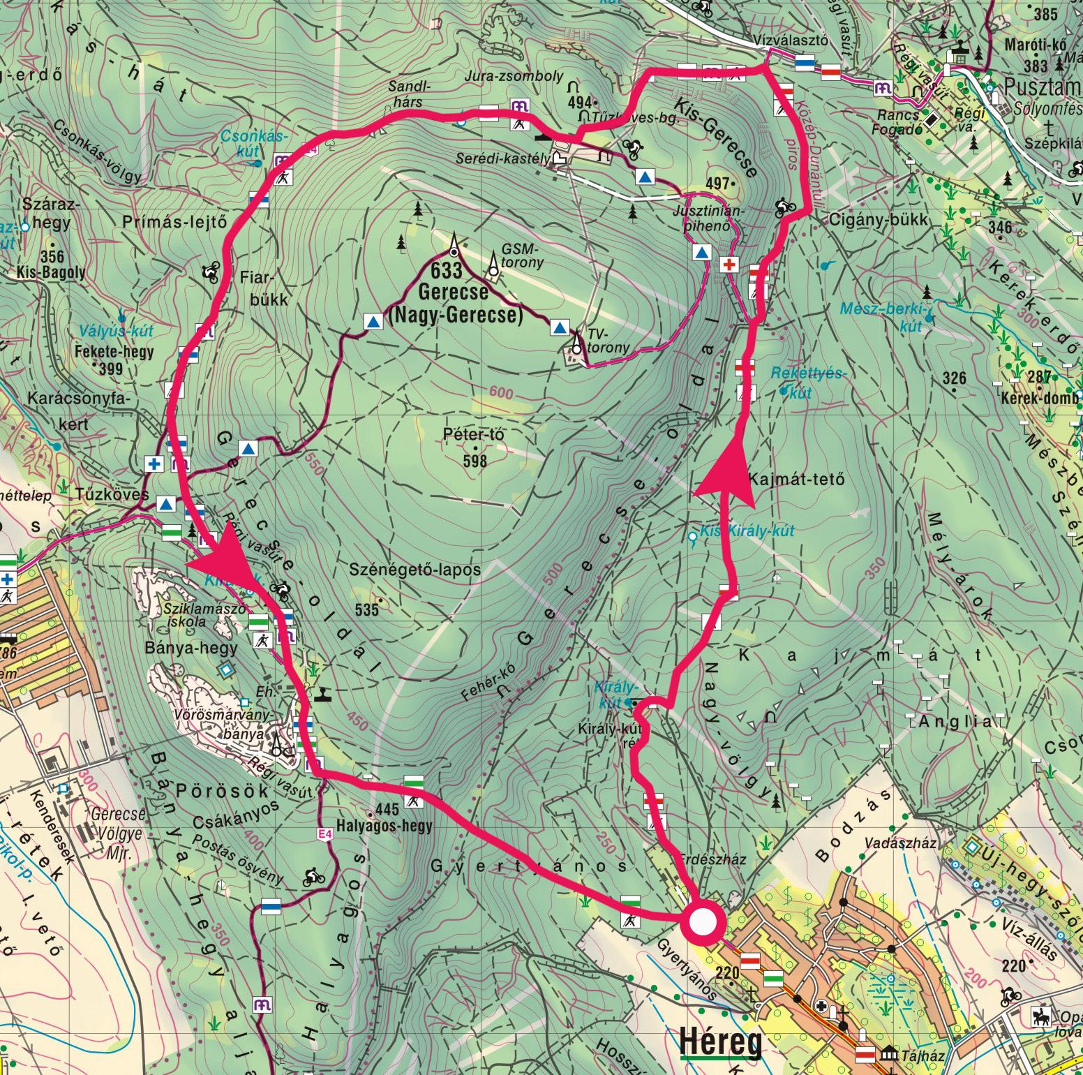 gerecse térkép Túra a Nagy Gerecse tömbje körül, a Kis Gerecse szikláin  gerecse térkép