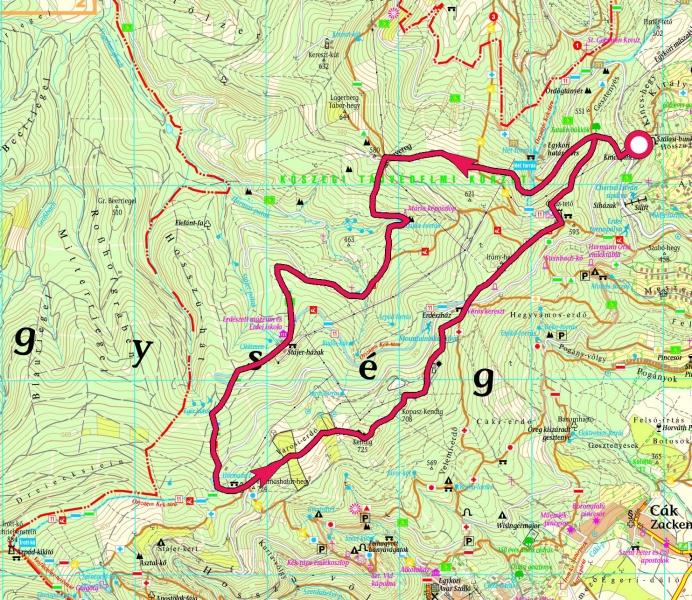 kőszeg látnivalók térkép Kőszegi hegység, Gerinctúra » KirándulásTippek kőszeg látnivalók térkép