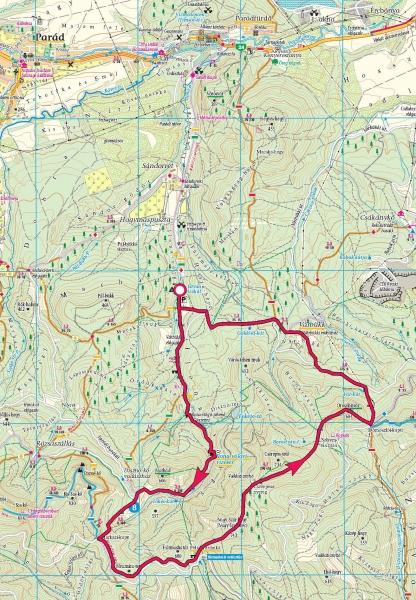 parádfürdő térkép Ilona völgy, Keleti Mátra » KirándulásTippek parádfürdő térkép