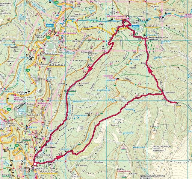 mátrafüred térkép Mátrafüred, Kis kő, Kékes tető, Csatorna völgy » KirándulásTippek mátrafüred térkép