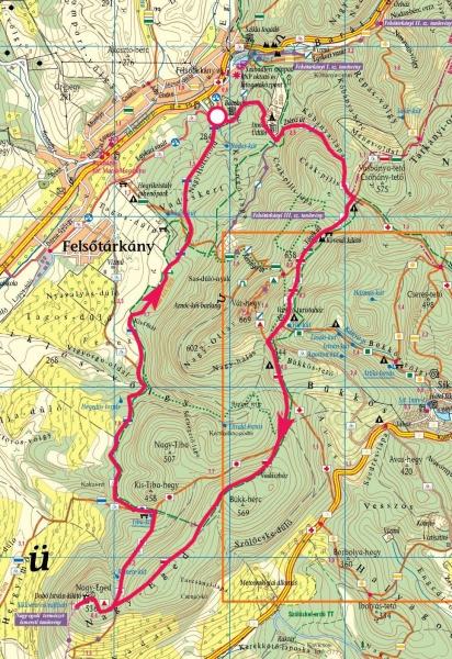 felsőtárkány térkép Nagy Eged, Várkúti turistaház » KirándulásTippek felsőtárkány térkép