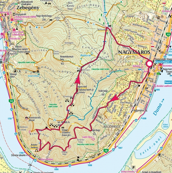 nagymaros térkép Remete barlang, Hegyes tető » KirándulásTippek nagymaros térkép