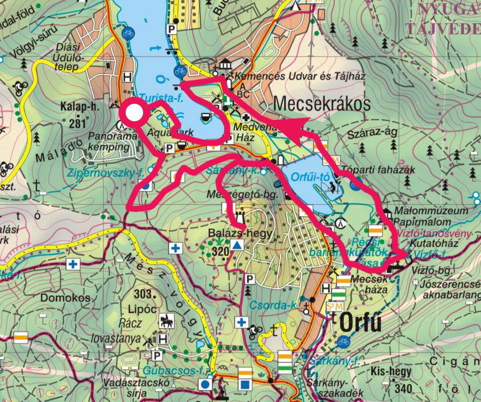 orfű térkép Orfűi séta, Pécsi tó, Orfűi tó, Balázs hegyi kilátó » KirándulásTippek orfű térkép