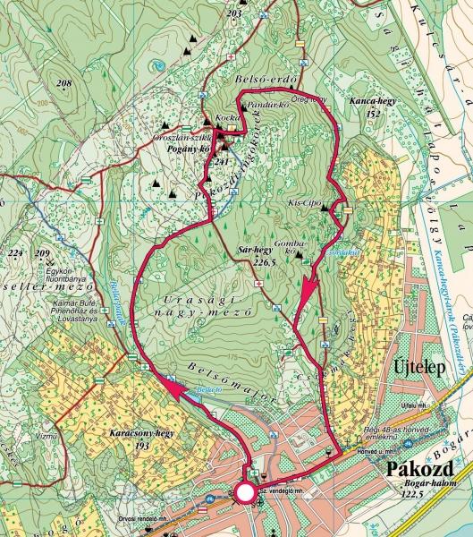 pákozd térkép Pákozdi ingókövek » KirándulásTippek pákozd térkép