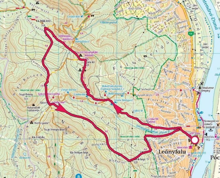 leányfalu térkép Vörös kő » KirándulásTippek leányfalu térkép