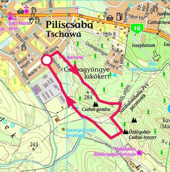 piliscsaba térkép Piliscsaba, Gomba szikla, Ördögoltár szikla » KirándulásTippek piliscsaba térkép