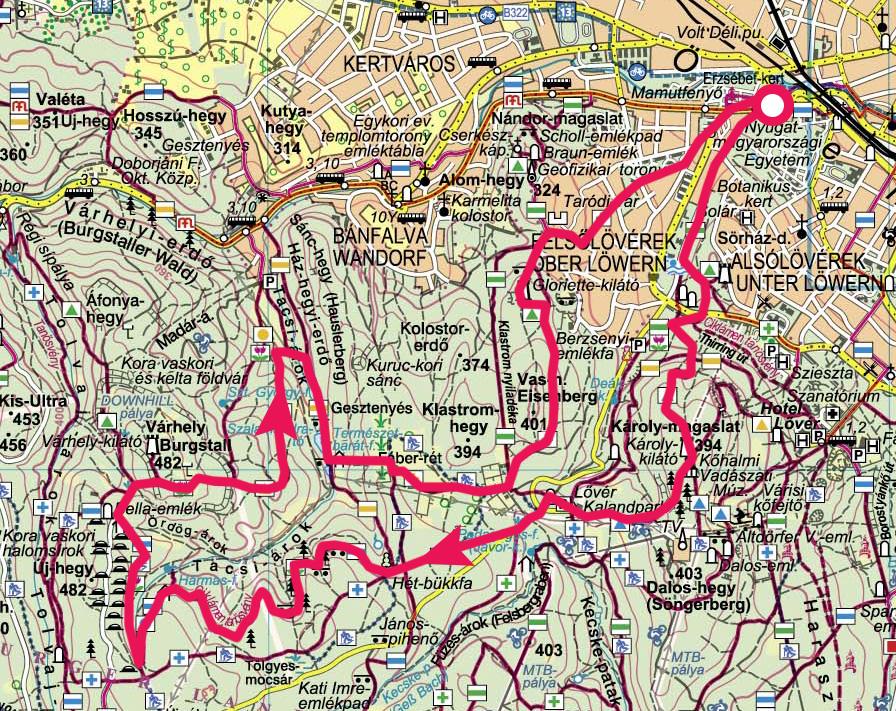 sopron túraútvonalak térkép Soproni hegység, Kilátó túra » KirándulásTippek