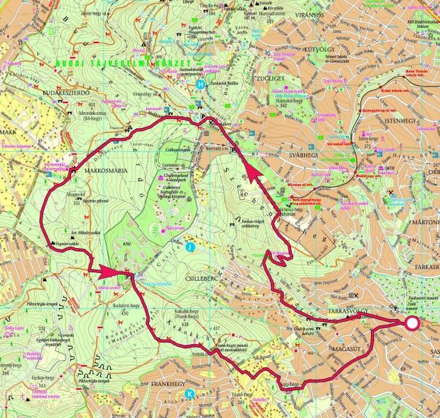 budaörs domborzati térkép Ördög orom, Normafa, Makkosmária, Frank hegy, Rupp hegy  budaörs domborzati térkép