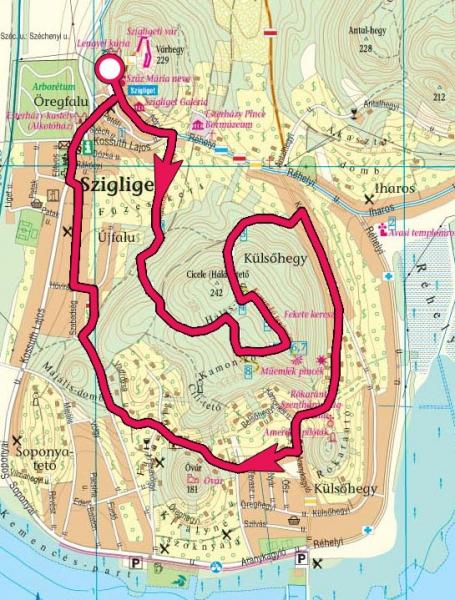 szigliget térkép Szigligeti túra, Kamon kő, Rókarántó, Óvár » KirándulásTippek szigliget térkép