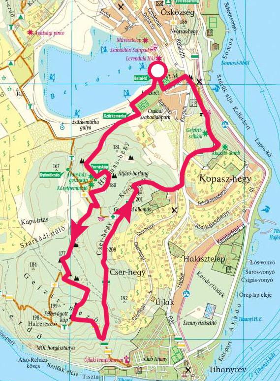 balaton térkép tihany Tihanyi félsziget, rövid körtúra a gejzírkúpokhoz » KirándulásTippek balaton térkép tihany