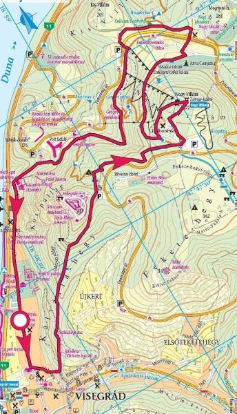 visegrád látnivalók térkép Visegrádi körtúra a Nagy Villámra » KirándulásTippek visegrád látnivalók térkép