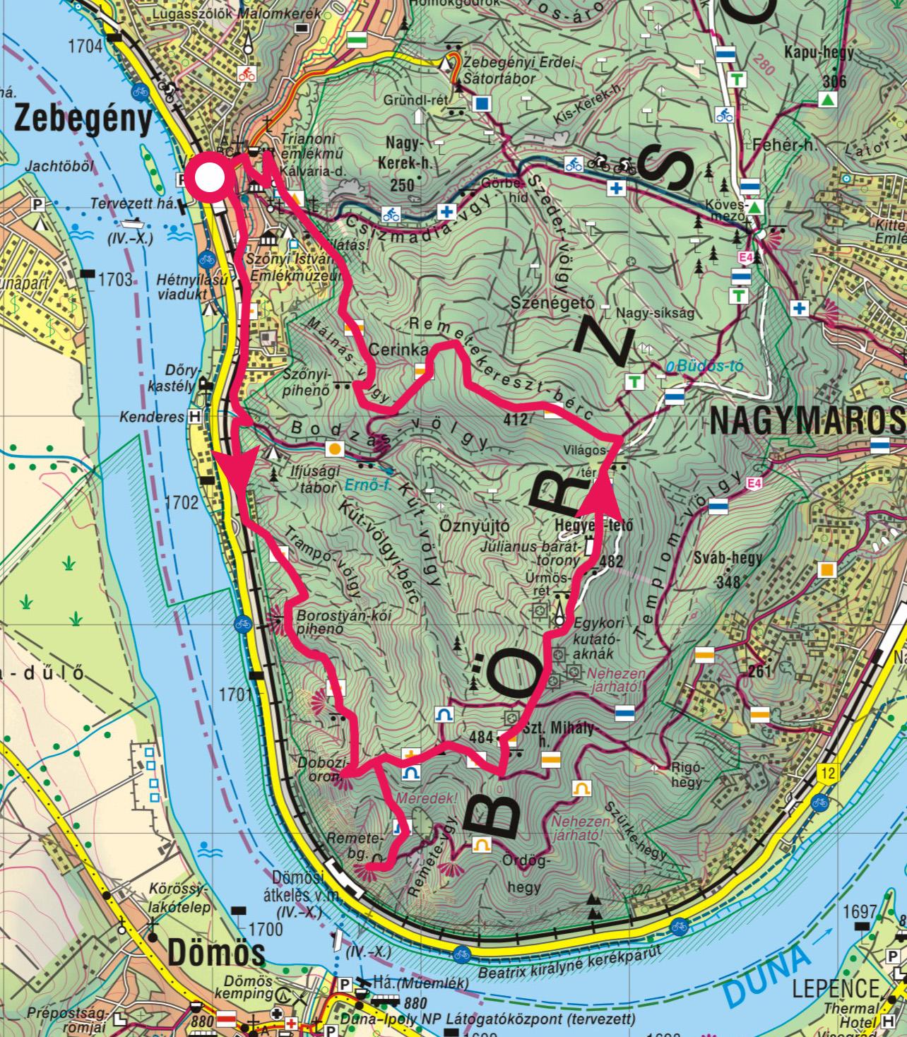 zebegény térkép Zebegény, Remete barlang, Hegyes tető » KirándulásTippek zebegény térkép